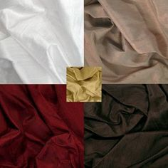Burgundy, beige, white, gold, brown. The gold is a nice accent