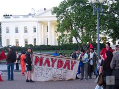 Red Twilight -- May Day Protest in front of the White House