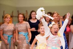 Have you ever seen anymore more excited to catch the bouquet?