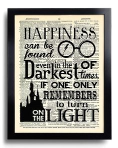 Harry Potter Happiness can be found Quote  Potter by PrintsVariete