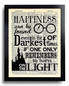 Harry Potter felicidad puede encontrarse citar por PrintsVariete