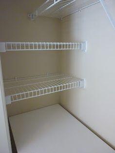 Closet/Office side shelving
