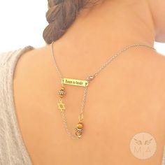 COLLAR PLATEADO PARA ESPALDA CON ALITA EN NACAR Gold Necklace, Chain, Jewelry, Chains, Steel, Colombia, Necklaces, Gold Pendant Necklace, Jewlery