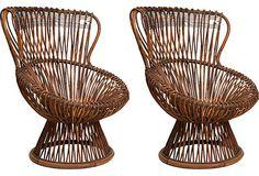 Franco Albini Margarita Chairs, Pair