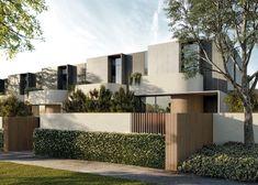 One Centre Road — Studio Brave Modern Japanese Architecture, Minimalist Architecture, Facade Architecture, Residential Architecture, 3 Storey House Design, House Front Design, Modern Exterior House Designs, Exterior Design, Townhouse Designs