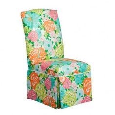 Heritage Dining Chair in Lilly Pulitzer Uphostery
