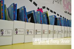 what a week (with a little classroom tour!) - mail boxes for the office