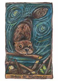Eight of Pentacles Tarot Card by sobeyondthis on DeviantArt Astro Tarot, Capricorn And Virgo, Oracle Tarot, Cartomancy, Wiccan, Pagan, Visionary Art, Eight, Pentacle