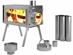 Caminus Russian-Bear Camping Stoves for Tents (Glass Walls) Camping Table, Tent Camping, Winter Tent, Tent Stove, Best Camping Stove, Portable Stove, Stove Heater, Wall Tent, Pvc Windows