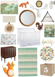 I was inspired by Fisher Price's convertible cribs to creat this woodsy/camping-inspired nursery idea board. I'll be pinning these products and more throughout the pin party tonight - stay tuned! #fisherprice #pinparty