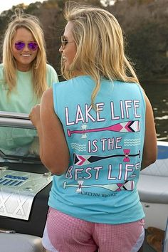 Lake Life is the Best Life - Tank Shown in Popsicle Blue Jade is 5'4 and is wearing a medium 100% pre-shrunk, ringspun pigment-dyed cotton Note: All Tanks run 1/2 size larger