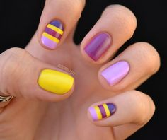 Nailed It.: Color Wheel Collision.  Love the combination of purples and yellow!