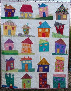 Wonky House quilt | Flickr - Photo Sharing!