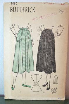 1940s Vintage Butterick Pattern 4460 Misses by TabbysVintageShop, $8.50