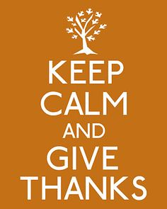 Thanksgiving, what a great holiday. A day set aside to give thanks and count our blessings.