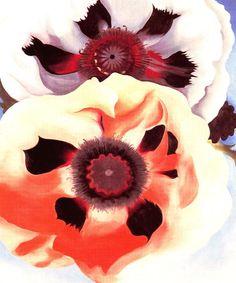 Tableaux sur toile, reproduction de O'Keeffe, Coquelicots