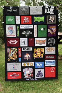 Favorite Sewing Projects T Shirt Quilts Custom Design That Fits Your Shirts Includes - T Shirt Quilts, Custom Design That Fits Your Shirts, Includes Fabric Between Blocks and Backing, You Get to Approve Layout T-shirt Quilts, Baby Quilts, Gifts For Baseball Lovers, T Shirt Diy, Tee Shirts, Quilting Designs, Quilting Ideas, Quilt Design, Layout