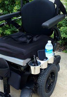 Power Wheelchair Tri-cup Holder