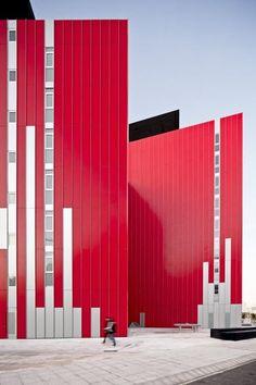 Vibrantly colored University Housing, Gandía / Guallart Architects.
