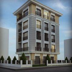 Building Facade, Building Exterior, Facade Design, Exterior Design, Residential Building Design, House Plans Mansion, Fantasy House, House Front Design, Traditional Exterior