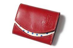 【4/16発売】キュートな豆絞り×革の小さい財布「小さいふ」 画像1 Card Case, Wallet, Pocket Wallet, Purses, Diy Wallet, Purse
