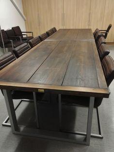 400x120cm neuvottelupöytä, jaettavissa kahteen osaan Conference Room, Dining Table, Rustic, Modern, Furniture, Home Decor, Homemade Home Decor, Diner Table, Dinning Table Set