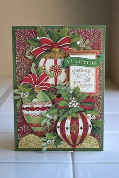 Anna Griffin Card Making Collections | Love this traditional Christmas line with traditional colors and ...