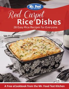 Red Carpet Rice Dishes: 28 Easy Rice Recipes for Everyone | From brown rice recipes to white rice recipes, you're sure to find a new way to change up your rice in this FREE eCookbook!