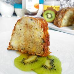 Fitness kuskusová kiwi bábovka - zdravý recept Bajola Kiwi, Polenta, French Toast, Cheesecake, Fitness, Cooking, Breakfast, Food, Diet