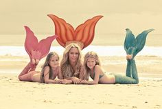Eco-friendly mermaid fin and mermaid scale pants that you can actually swim in - for the whole family from Oceanikamerfins.  This would be awesome for photos