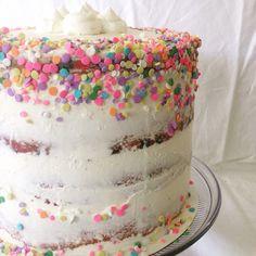 Semi Naked Funfetti Baby Shower Cake