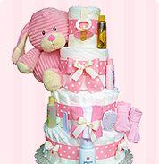 girl diaper cakes #DGDiaperCakes