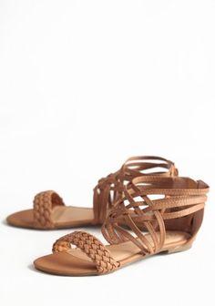 Stick Together Braided Sandals In Tan   Modern Vintage New Arrivals
