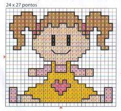 Baby girl cross stitch easy