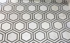 Hex Appeal  |  5 Inch Hexagon White  |  Basalt Grey Mosaics