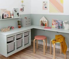 27 Study room for modern children Ideas that you have to copy 27 Lernraum für moderne Kinder Ideen, die Sie kopieren müssen 27 Study room for modern children Ideas that you have to copy - Kids Bedroom Designs, Kids Room Design, Bedroom Ideas, Playroom Design, Trofast Ikea, Kallax, Ikea Hack Kids, Ikea Hacks, Romantic Bedroom Decor