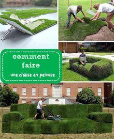 Une chaise en pelouse ? Laissez vous tenter ! Pour le confort du jardin, mais…