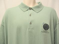 Ping Green Golf Tennis Polo Mens L Ecosens Technologies Embroidered Logo