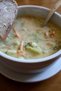 Cheesy Broccoli-Potato Chowder. So yummy!