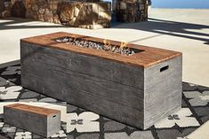 Shop for the Ashley (Signature Design) Hatchlands Low Rectangular Fire Pit Table at Johnny Janosik - Your Delaware, Maryland, Virginia, Delmarva Furniture, Mattress & Outdoor Store Fire Pit Table Top, Fire Pit Bench, Fire Pit Bbq, Fire Pit Party, Fire Pit Wall, Fire Pit Decor, Easy Fire Pit, Metal Fire Pit, Fire Pit Seating