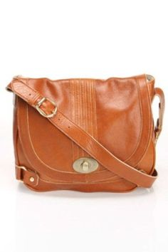 Lesa Wallace Coco Saddle Bag in Cognac $325.00