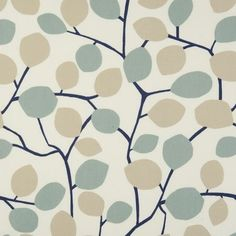 Ordinaire Nissa Leaves Mineral Duckegg U0026 Taupe Cotton PVC Oilcloth Tablecloth 132 Cm  X 1 Metre Karina