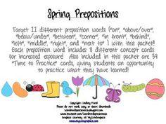 Spring Prepositions $2.75