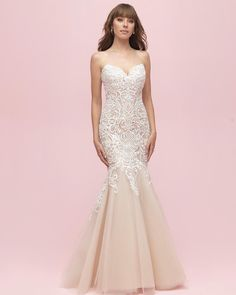 """50fb25c774 Allure Bridals on Instagram  """"Style 3200 from the Spring 2019 Allure Romance  collection has a beautiful silhouette and just enough detail. More in the  bio!"""