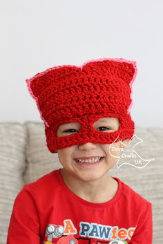 My little boy has just caught up with the PJ Masks craze and he loves them! I wanted to make him some mask-hats, so I have written patterns for Owlette, Gekko and Catboy, which are all available for free on Ravelry (see my patterns).