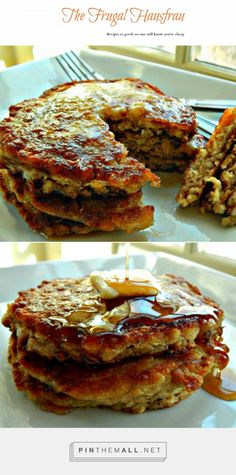 Scottish Oatcakes – Oatmeal Pancakes . So healthy, wholesome and easy! The exterior is crispy, the inside fluffy and creamy. Start the night before, set out everything you need for the a.m. and you'll have this fantastic breakfast ready in minutes! A long time family favorite.