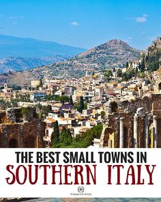 Taormina is one of the best small towns to visit in Southern Italy. Find out the rest in our blog! #lsicilia #sicily #taormina