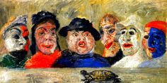 JAMES ENSOR (1860/1949), BELIAN PAINTER– The language of harsh colors, under the influence of Flemish naturalism | Meeting Benches