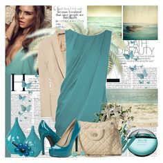 Sea-foam by sirena59 on Polyvore featuring мода, Oasis, Maison Margiela, Chinese Laundry, GUESS by Marciano, Bulgari, Barry M, ULTA, Kat Von D and Sonoma life + style