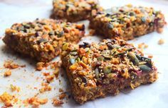 Healthy oatmeal breakfast bar recipe from MyNutriCounter